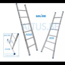 Professionele enkele ladder 6 treden 1.75m