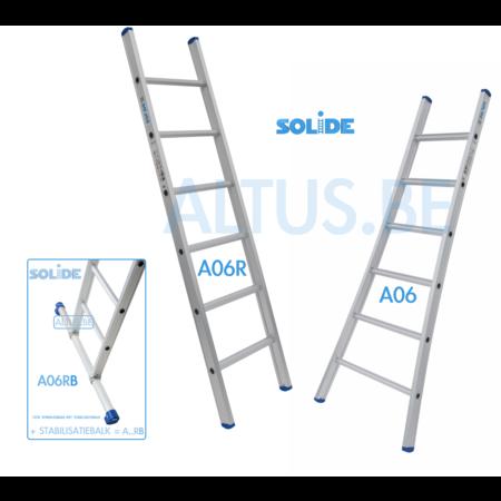 solide Solide professionele enkele ladder 6 treden 1.75m