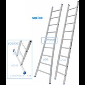 Professionele enkele ladder 9 treden 2.50m
