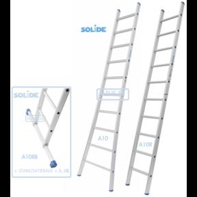 Professionele enkele ladder 10 treden 2.75m