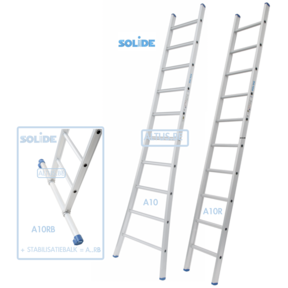 Professionele enkele ladder 8 treden 2.25m