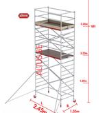 Altrex RS-42 Tower 1.35m B x 2.45m L x5.20m Vh = 7.20 wh traditionele opbouw