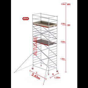 RS-42 Tower 1.35m B x 2.45m L x5.20m Vh = 7.20 wh traditionele opbouw