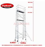 BigScaff module 3 Allround rolsteiger 6.30m vh= 8.30m wh