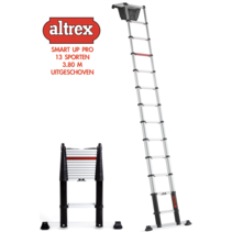 0.89-3.80m Altrex professionele telescopische ladder Smart Up Pro 13 treden