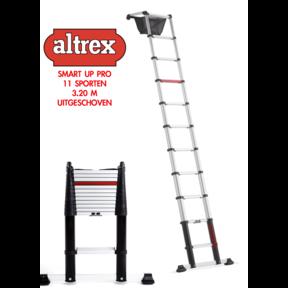 0.83-3.20m Altrex professionele telescopische ladder Smart Up Pro 11 treden