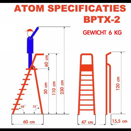 bigone Atom 2-treden 0,50m professionele trapladder