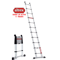 0.85m - 3.40m Altrex semi-prof. telescopische ladder Smart Up Active 11 treden