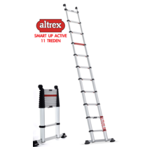 0.85m - 3.40m Altrex semi-prof. telescopische ladder Smart Up Active 11 treden