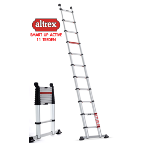 Smart Up Active semi-professionele telescopische ladder 11 treden