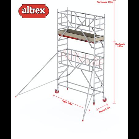 Altrex  0.75 x 1.85 x 3.20m vh Safe-Quick RS Tower  41-S