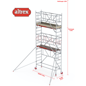 RS TOWER 41-S met Safe-Quick 0.75 x 2.45 x 6.20m WH
