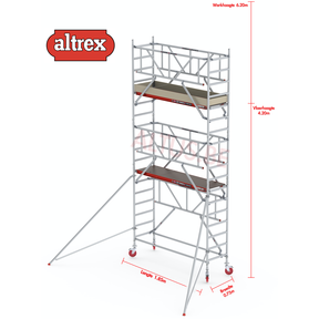 RS TOWER 41-S met Safe-Quick 0.75 x 1.85 x 6.20m WH