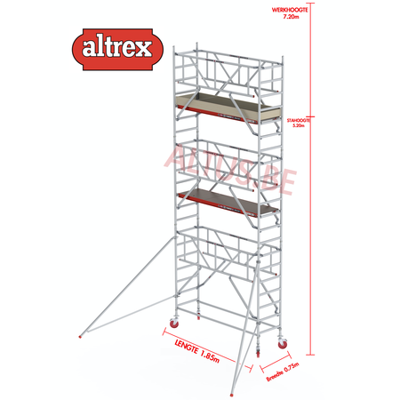 Altrex  0.75 x 1.85 x 5.20m vh Safe-Quick RS Tower  41-S