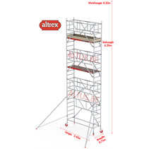0.75 x 2.45 x 6.20m vh Safe-Quick RS Tower  41-S