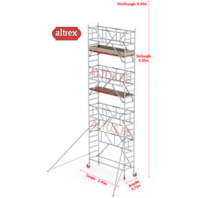 RS TOWER 41-S met Safe-Quick 0.75 x 2.45 x 8.20m WH