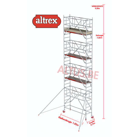 Altrex  0.75 x 1.85 x 7.20m vh Safe-Quick RS Tower  41-S
