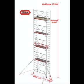 RS TOWER 41-S gevelvrij met Safe-Quick 0.75 x 1.85 x 10.20m WH