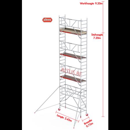 Altrex Gevelvrij* 0.75 x 1.85 x 7.20m vh Safe-Quick RS Tower  41-S