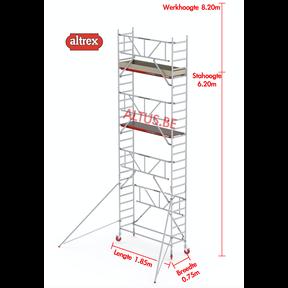 RS TOWER 41-S gevelvrij met Safe-Quick 0.75 x 1.85 x 8.20m WH