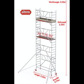 RS TOWER 41-S gevelvrij met Safe-Quick 0.75 x 2.45 x 8.20m WH