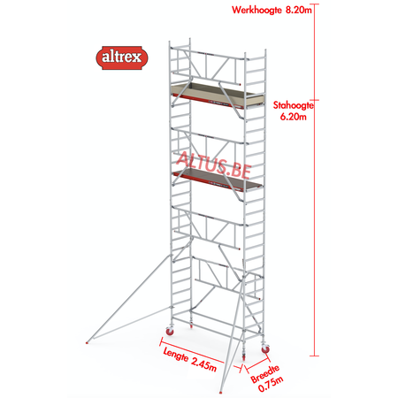 Altrex Gevelvrij* 0.75 x 2.45 x 6.20m vh Safe-Quick RS Tower  41-S
