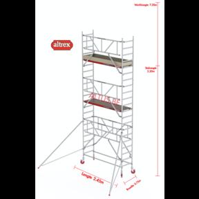 RS TOWER 41-S gevelvrij met Safe-Quick 0.75 x 2.45 x 7.20m WH