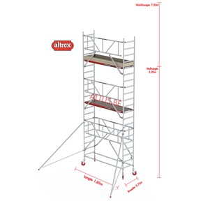 RS TOWER 41-S gevelvrij met Safe-Quick 0.75 x 1.85 x 7.20m WH