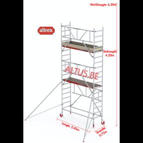 RS TOWER 41-S gevelvrij met Safe-Quick 0.75 x 2.45 x 6.20m WH
