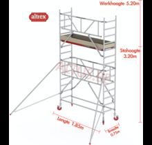 Gevelvrij* 0.75 x 1.85 x 3.20m vh Safe-Quick RS Tower  41-S