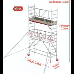 RS TOWER 41-S gevelvrij met Safe-Quick 0.75 x 2.45 x 5.20m WH
