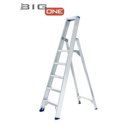 bigone Professionele enkele trapladder 5 treden model ATOM