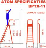 bigone Professionele enkele trapladder 11 treden model ATOM