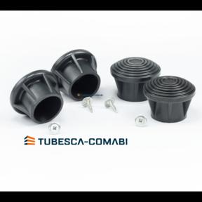 set van 4 stuks  veiligheidsvoeten tubesca Ø 35mm