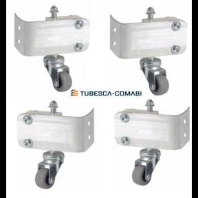 Set van 4 stuks  verende wielen Tubesca