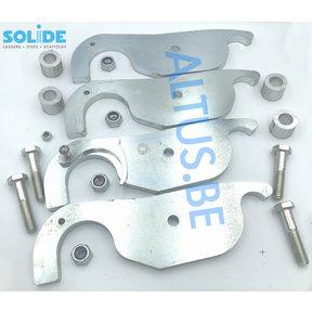 Set compleet van 4 haken voor 1 werkbrug Solide