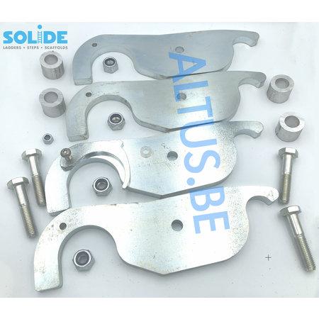 Solide  Set compleet van 4 haken voor 1 werkbrug Solide