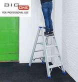 bigone Dubbele trapladder 2x5-treden- stahoogte 1.25m