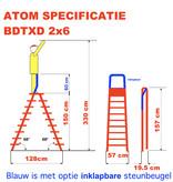 bigone Dubbele trapladder 2x6-treden- stahoogte 1.50m