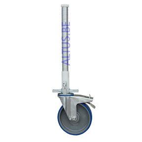 ASC regelbare steigerwiel Ø 200 mm stalen spindel 375 kg kunststof geleider