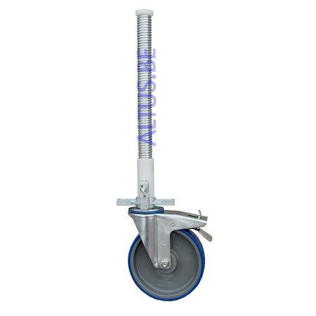 ASC ASC steigerwiel Ø 200 mm met stalen spindel 375 kg kunststof geleider
