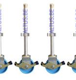 ASC ASC regelbare steigerwiel Ø 200 mm alu spindel  800 kg draagvermogen