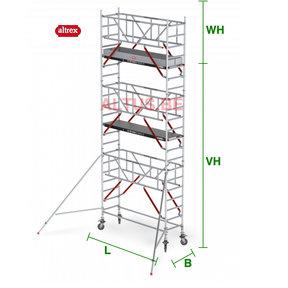 RS Tower 51-S met Safe-Quick 0.90(B) x 1.85(L) x 5.20m vh = 7.20m wh
