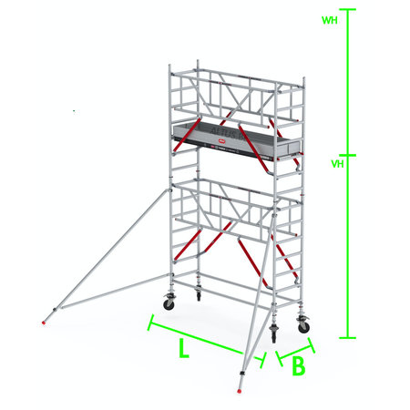 altrex RS Tower 51-S met Safe-Quick 0.90(B) x 1.85(L) x 3.20m vh = 5.20m wh