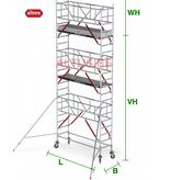 altrex RS Tower 51-S met Safe-Quick 0.90(B) x 2.45(L) x 5.20m (VH) = 7.20m (WH)