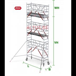 RS Tower 51-S met Safe-Quick 0.90(B) x 2.45(L) x 5.20m (VH) = 7.20m (WH)