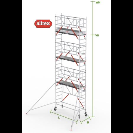 altrex RS Tower 51-S met Safe-Quick 0.90(B) x 2.45(L) x 6.20m (VH) = 8.20m (WH)