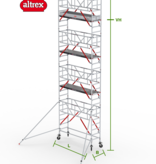 altrex RS Tower 51-S met Safe-Quick 0.90(B) x 2.45(L) x 7.20m (VH) = 9.20m (WH)