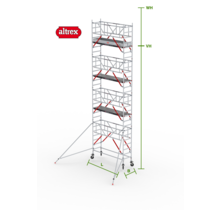 RS Tower 51-S met Safe-Quick 0.90(B) x 2.45(L) x 7.20m (VH) = 9.20m (WH)