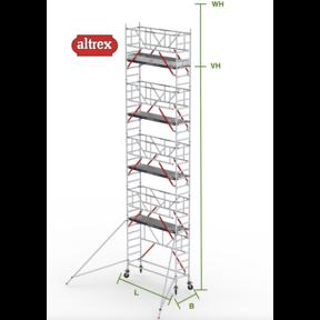 RS Tower 51-S met Safe-Quick 0.90(B) x 2.45(L) x 8.20m (VH) = 10.20m (WH)